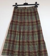 Tekos ženska smećkasta plisirana suknja