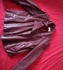 Kožna jakna bordo