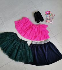 NOVO Lot 3 suknje + poklon ukosnice i balerinke 27