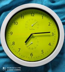 Zidni sat s higrometrom i termometrom 30 cm