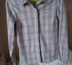 Lacoste lila pink ljubičasta karirana košulja