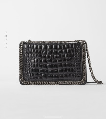 Zara kožna crna torba