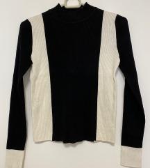 ZARA KNIT Crno Bijela Majica