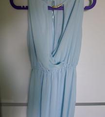 Plava maxi haljina