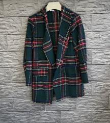Karirani blejzer/jakna XL