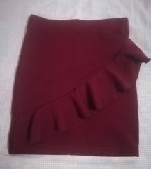 Bordo suknja- NOVA snižena