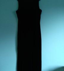 Haljina crna plisana svecana