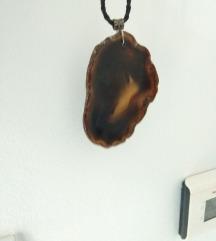 Ogrlica smeđi kamen