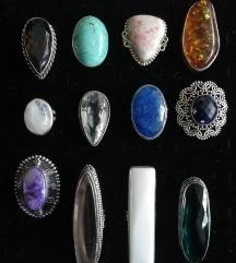Prsteni JAKO RIJETKO poludrago kamenje
