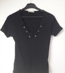 Crna majica na vezanje Zara 36 38