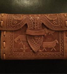 Unikat kožni novčanik etno ručni rad