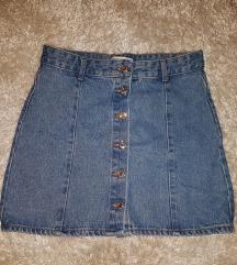 Pull & Bear Jeans Suknja