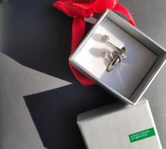 NOVO Benetton srebrni prsten