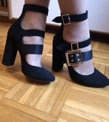 LIU-JO crne kožne cipele