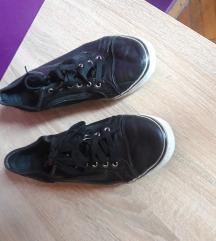 kožne crne tenisice Vans