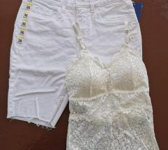 Lot majica i kratke hlače bijelo