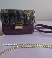 My lovely bag ljubičasto tigrasta torbica