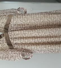 NAF NAF svilena haljina 38 rozo maslinasta