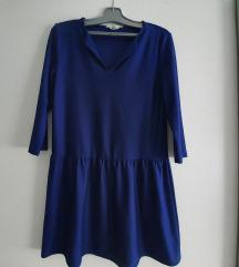 Plava lepršava haljina
