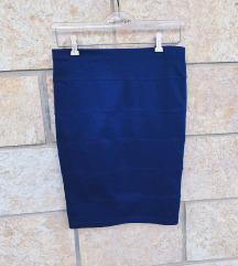 FOREVER21 plava uska midi suknja - NOVO