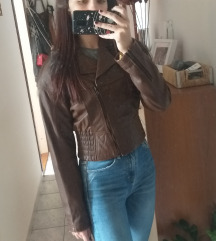 Vintage PRAVA kožna jaketa