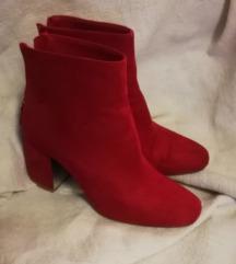 crvene stradivarius cizme 39