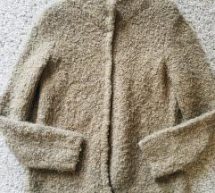 Camel bež teddy kardigan kaput vel M