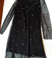 Crna biserna haljina, br.44