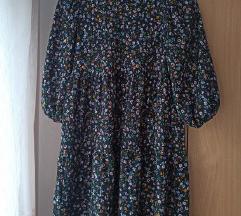 Bershka babydoll cvjetna haljina