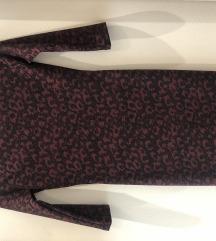 Zara crvena leopard haljina