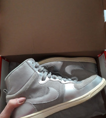 Original Nike srebrne visoke tenisice