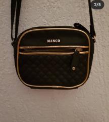MANGO crna kozna torbica