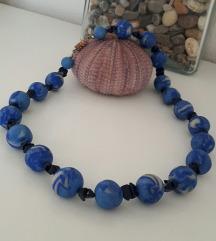 plava fimo ogrlica