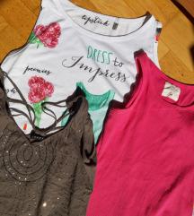 ❤️ LOT 3 ljetne majice bez rukava (M)