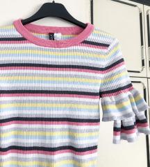 NOVA H&M Šarena proljetna majica na prugice 💜💛💙