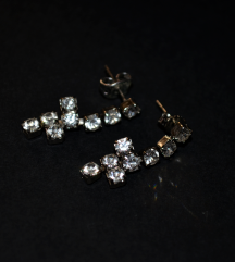 Viseće srebrne naušnice