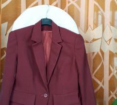 Bordo-crveni sako&pencil suknja M