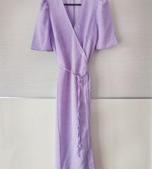 Lila točkasta haljina XS/S