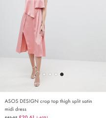 Asos Desing crop top midi haljina