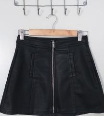 Bershka - Kožna mini suknja