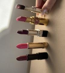 Mix ruževa (YSL, Shiseido, Dior, Collistar)