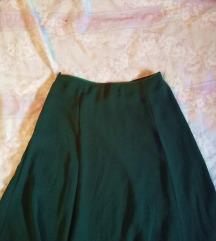 H&M asimetrična zelena suknja