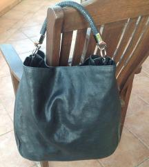 YSL  velika crna kožna torba