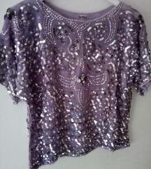 Lila bluza handmade