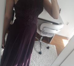 Duga ljubicasta haljina