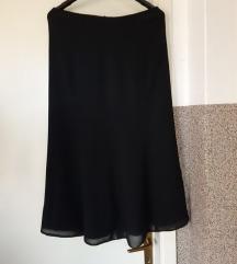 nova crna midi svecana suknja 40-42