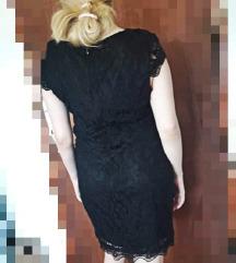 Čipkasta mini crna haljina