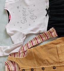Lot dvije haljine i majica 110