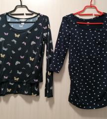 2 H&M trudnicke majice