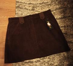 Nova samtena mini suknja